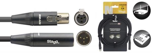 Stagg NAC5MX4FMX4MR N-Serie Audio Kabel - Mini 4pin XLR M / Mini 4pin