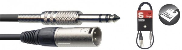 Stagg SAC1PSXM Audio-Kabel, XLR/Klinke (m/m), 1 m, symmetrisch