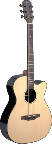 James Neligan LYN-ACFI LYN-ACFI Lyne Serie, E/A Auditorium Gitarre m. Cutaway u. massiver Fichtendec