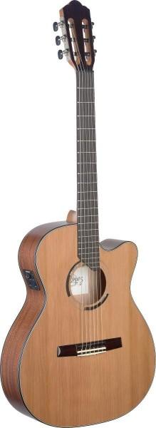 Angel Lopez ERE HYB-CFI S Eresma, E/A Klassikgitarre Cutaway m. massiver Zederndecke u. hybrider Hal