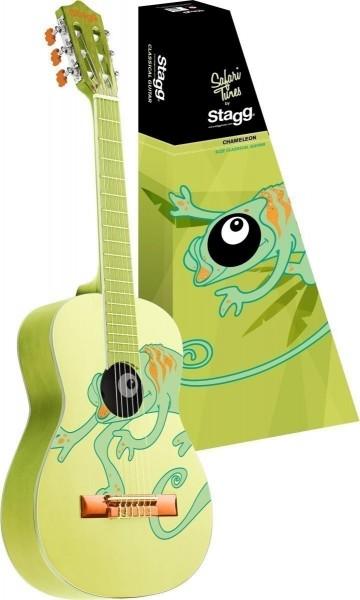 Stagg C530 CHAMELEON 3/4 Klassik-Gitarre in grün mit Lindendecke