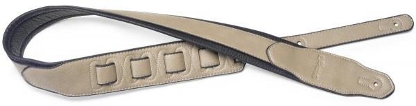 Stagg SPFL 40 BEI Beige gepolsterter Gitarrengurt aus Lederimitat mit dreieckigem Ende