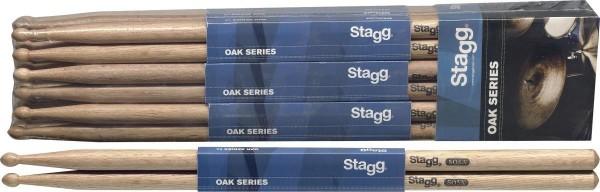 Stagg SO5A Eiche Drumsticks Holz Tip / 5A / Preis für 1 Paar