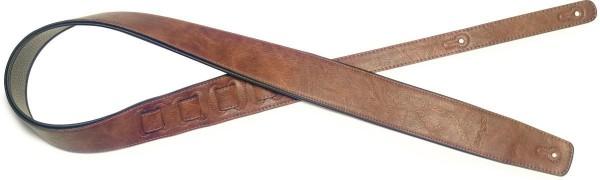 Stagg SPFL 30 BRW XL Braun gepolstert Lederimitat Gitarrengurt, Größe XL, Extra-Large