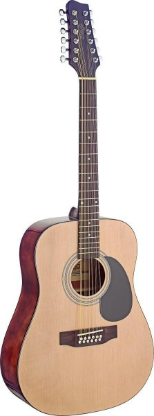Stagg SA40D/12-N Dreadnought, akustische Gitarre m. Fichtendecke