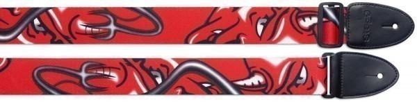 """Stagg STE RED DEVIL Gitarrengurt aus Terylene mit """"Red Devil"""" Motiv"""