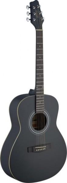 Stagg SA30A-BK LH Auditorium, akustische Gitarre m. Lindendecke