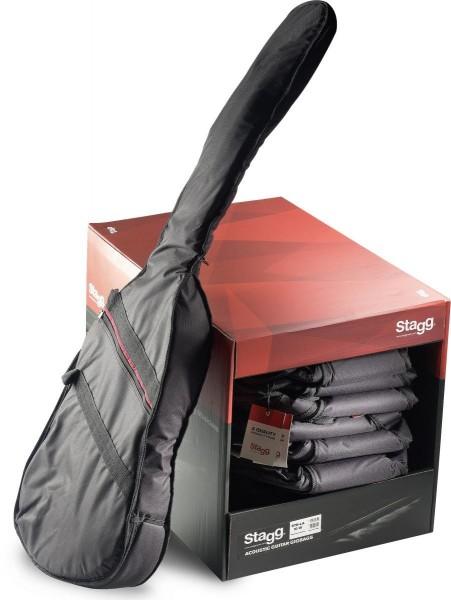 Stagg STB-LA10UB PACK Packung aus 10 Basic Serie gepolsterte Nylontaschen für Bassgitarre