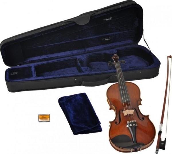 B-Ware Steinbach 4/4 Geige im SET Ebenholzgarnitur