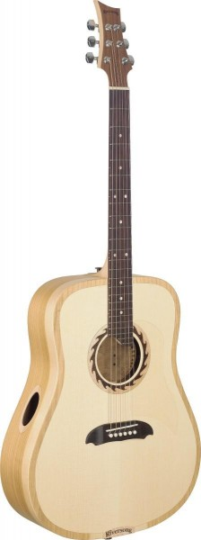 Riversong TRAD 1 N Tradition One Serie 4/4 Dreadnought Gitarre mit massiver Decke aus AAA Engelmannf