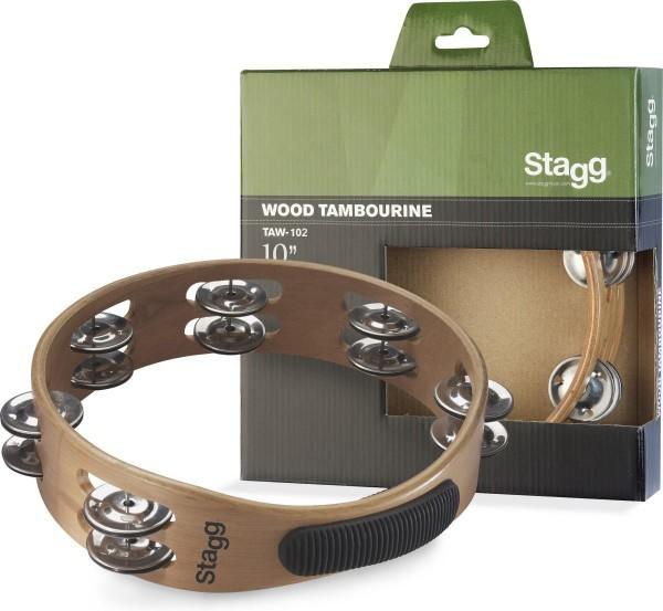 Stagg TAW-102 10 Zoll Schellenring - doppelreihig