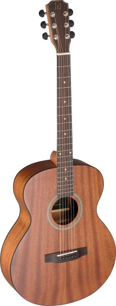 James Neligan DEV-A Akustische Auditorium-Gitarre, massive Mahagoni Decke Decke Mahagoni, Deveron Se