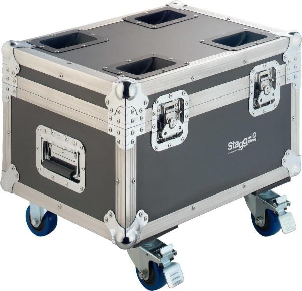 Stagg SLI FC-CYC60 Flightcase aus Holz für 4x Cyclops 60 oder andere Moving-Heads, mit Rollen