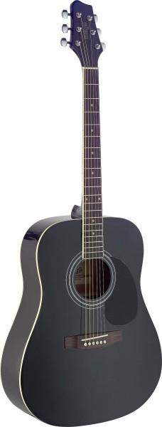 Stagg SA40D-BK Dreadnought, akustische Gitarre m. Fichtendecke