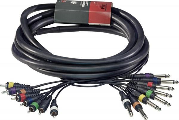 Stagg ML-05/8PM8CMH Pro Multicorekabel - 8 x Klinke / 8 x Cinch M