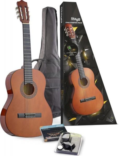 Stagg C542 STARTER P C542 Klassik Gitarre m. Fichtendecke u. Zubehör