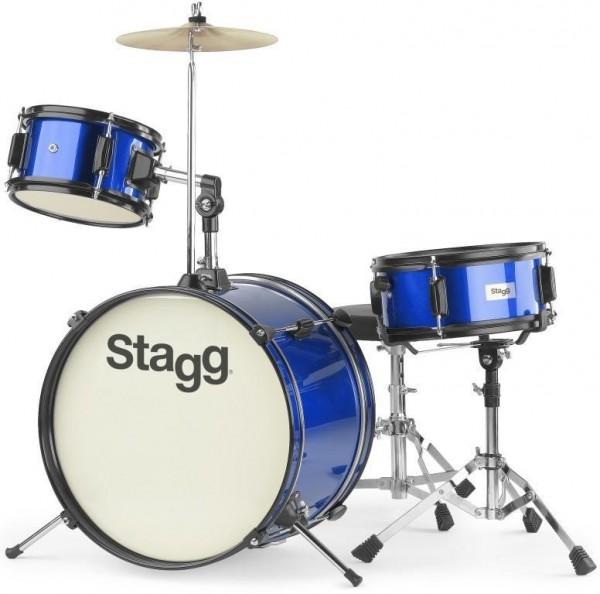 Kinderschlagzeug Stagg TIM J 3/16 BL 3-teiliges 16 Zoll Junior- Schlagzeugset blau