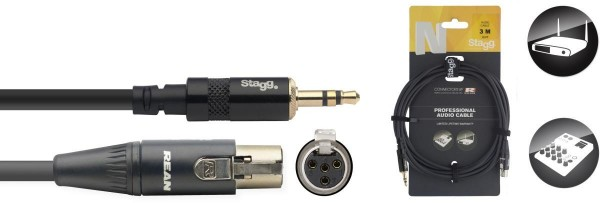Stagg NAC3MPSMX4FR N-Serie Audio Cable - Stereo Mini Phono Stecker / Mini 4pin
