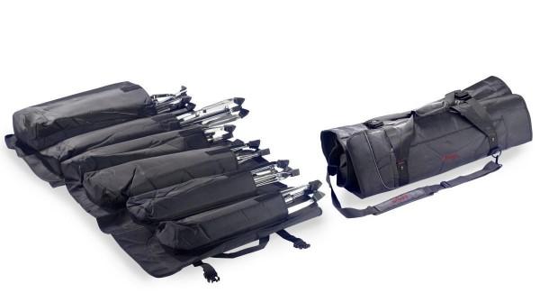 Stagg SPSB SET 6 Schwarze strapazierfähige professionell Nylon Falttasche