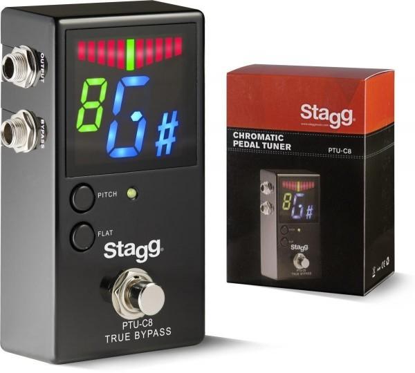 Stagg PTU-C8 Auto-Chromatisches Tuner-Pedal für Gitarre, Bass und weitere Musikinstrumen