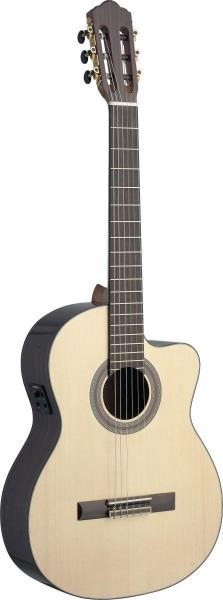 Angel Lopez SAU-CFI S Sauza Serie Cutaway klassische Gitarre mit massiver Fichtendecke und Fishman E