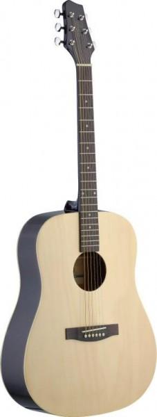 Stagg SA30D-N Dreadnought, akustische Gitarre m. Lindendecke