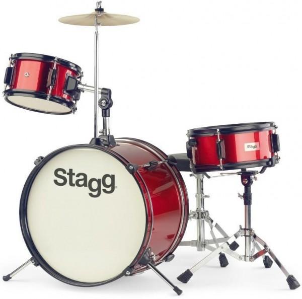 Kinderschlagzeug Stagg TIM J 3/16 RD 3-teiliges 16 Zoll Junior- Schlagzeugset rot