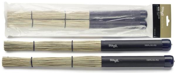 Stagg SBRU30-RS Polybürsten Strohbesen mit schwarzem Gummigriff
