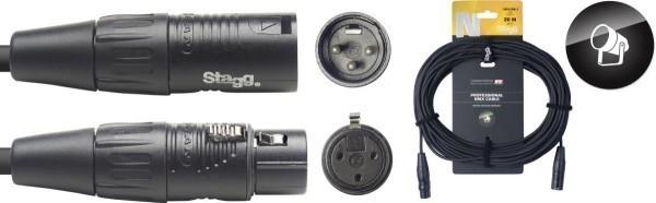 Stagg DMX-Kabel NDX20R-3 XLR/XLR m/f 3 Pins N-Serie 20 m