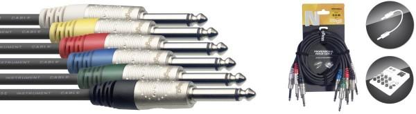 Stagg NPC030R-6 N-Serie, Mono Klinke Patchkabel-Set - 6 Stück