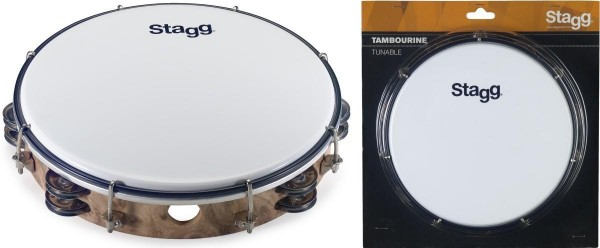 Stagg TAB-210P/WD 10 Zoll stimmbares Kunststoff Tambourin