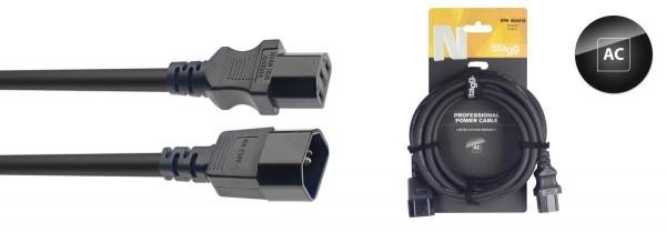 Stagg NPW3IECMF10 N-Series IEC F - IEC M Netzkabel-Erweiterung