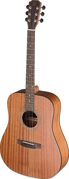 James Neligan DEV-D LH Akustische Dreadnought-Gitarre mit massiver Mahagoni Decke, Deveron Serie Lin