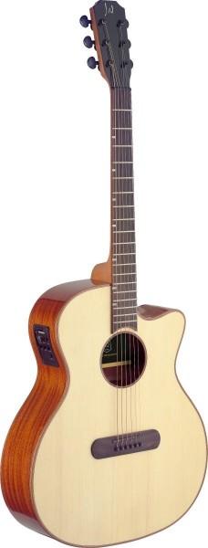 James Nelligan LIS-ACFI Lismore Serie, E-A Auditorium-Gitarre m. Cutaway u. massiver Fichtendecke