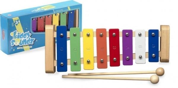 Stagg META-K8 Glockenspiel für Kinder mit 8 Klangplatten bunt