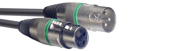 Stagg SMC1 GR Mikrofonkabel, XLR/XLR (m/f), 1 m, Ring Grün