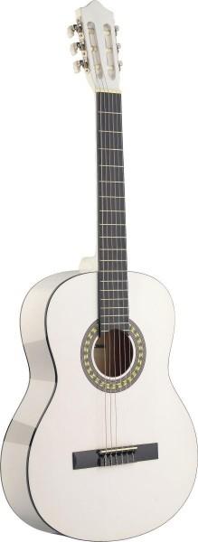 Stagg C542 WH 4/4 Klassik-Gitarre in weiss mit Lindendecke