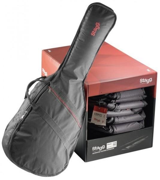 Stagg STB-LA10 C PACK Packung aus 10 Basic Serie gepolsterte Nylontaschen für 4/4 klassische Gitarre