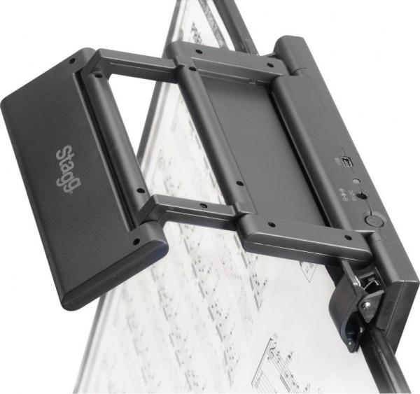 Stagg MUS-LED F24-2 Zusammenklappbare Clip-on und frei-stehende LED Leuchte für Notenständer