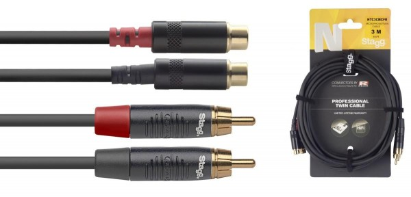 Stagg NTC3CMCFR N-Serie Twin Kabel