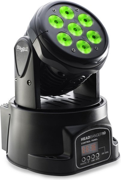 Stagg SLI MHW HB10-0 LED Moving-Head mit 7 x 10W RGBW 4-in-1 LEDs