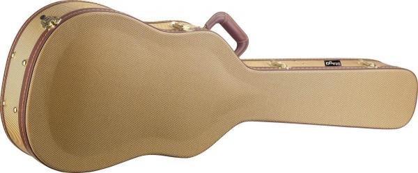 Stagg GCX-LP GD Gold Tweed Deluxe-Koffer für Les Paul-Typ E-Gitarre