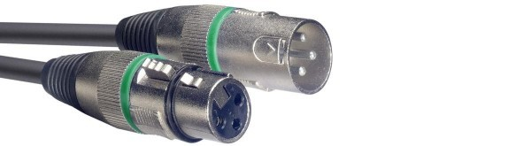 Stagg SMC6 GR Mikrofonkabel, XLR/XLR (m/f), 6 m, Ring Grün