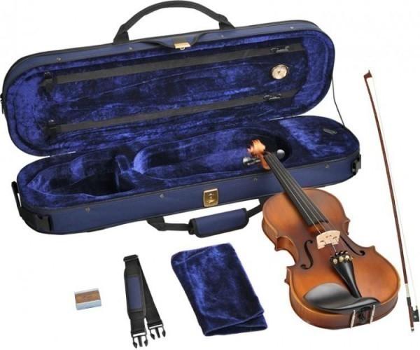 B-Ware Steinbach 3/4 Geige im SET Ebenholzgarnitur angeflammter Boden #2