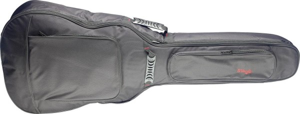 Stagg STB-GEN 10 J General Serie wasser-abweisende gepolsterte Nylontasche für Western Jumbo Gitarre
