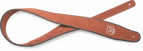 James Neligan JN-ST SUE BRW Braun Rauleder Gitarrengurt mit gesticktem Logo