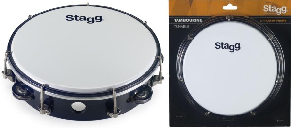 Stagg TAB-108P/BK 8 Zoll stimmbares Kunststoff Tambourin