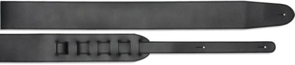 Stagg SL 12-7 BLK 7cm Gitarrengurt aus schwarzem Leder - Standard