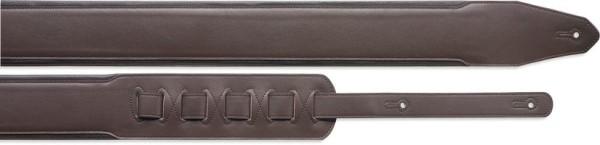 Stagg SLPL 40 BRN/BDR Gitarrengurt gepolstert aus dunkelbraunem Leder - Standard