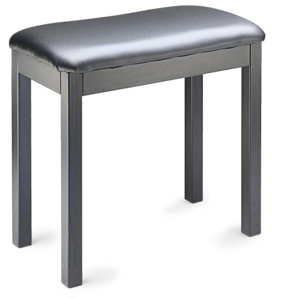 Stagg PBF20 MET BKSBK Schwarz Metall Klavier- oder Keyboardbank mit Sitzfläche aus schwarzem Kunstle